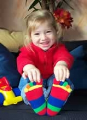 Kinderzehensocken Fünffarbig