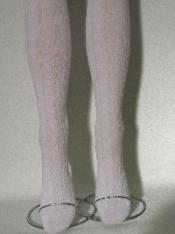 Weiße Damen-Trachtenstrumpfhose