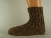 Alpaka Fußwärmer - braunmeliert