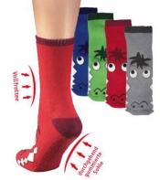 Socken-Schuhe Krokodil mit vollgummierter Sohle