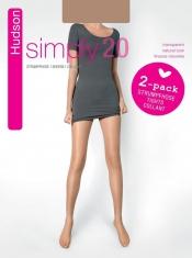HUDSON Damenstrumpfhose SIMPLY 20 15 den Doppelpack (3 Stück)