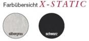 Compressana Twist X-Static Silberkniestrumpf