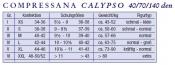 Compressana Calypso Schenkelstrümpfe - 70 den mit Haftband