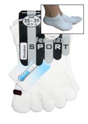 Toe Free® Coolmax-Sneaker-Zehensocken weiß