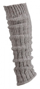Grobstrick-Stulpen mit Alpakawolle
