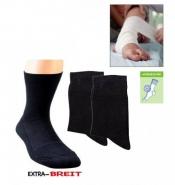 Gesundheitssocken extra breit, Plüschsohle, antibakteriell
