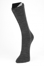 Personalisierte Double Face Socken - Baumwolle/Wolle, anthrazit